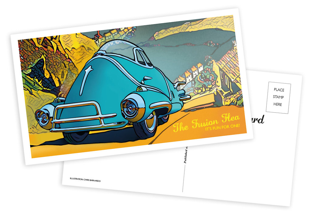 Fusion Flea postcard